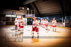 SLOUGH JETS V BASINGSTOKE BISON. SLOUGH BERKSHIRE 15 DECEMBER 2013