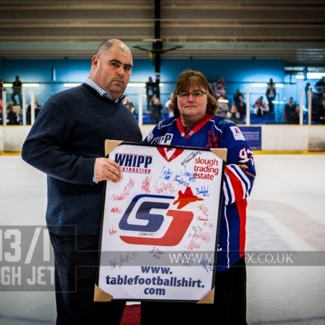 #icehockey Special presentation to Head Coach Craig Moran #presentation #headcoach